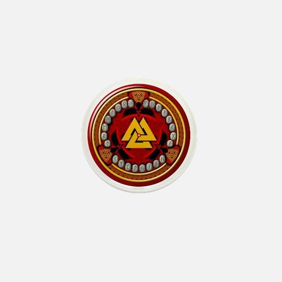 Red Rune Set Mini Button