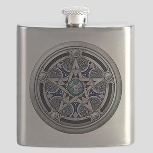 Feminine Silver Pentacle Flask