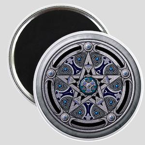 Feminine Silver Pentacle Magnet