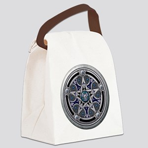 Feminine Silver Pentacle Canvas Lunch Bag