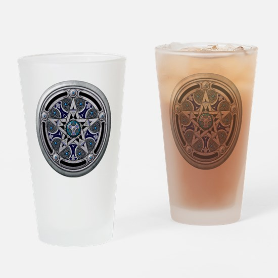 Feminine Silver Pentacle Drinking Glass