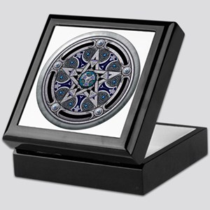 Feminine Silver Pentacle Keepsake Box