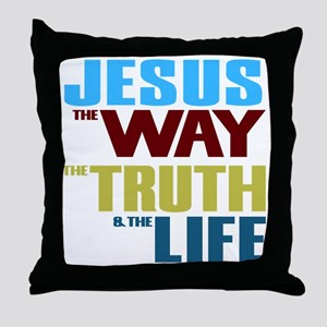 Jesus The Way The Truth & The Lif Throw Pillow