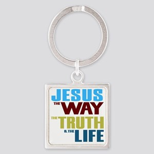 Jesus The Way The Truth & The  Square Keychain