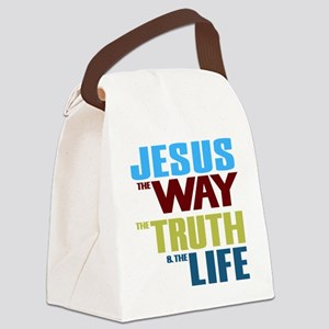 Jesus The Way The Truth & The Canvas Lunch Bag