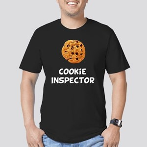 Cookie Inspector White Men's Fitted T-Shirt (dark)
