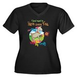 GOAT | Just Women's Plus Size V-Neck Dark T-Shirt