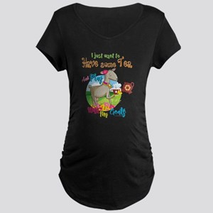 GOAT   Just Want to Have So Maternity Dark T-Shirt