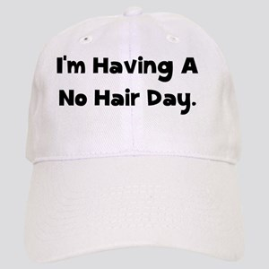 No Hair Day Black Cap
