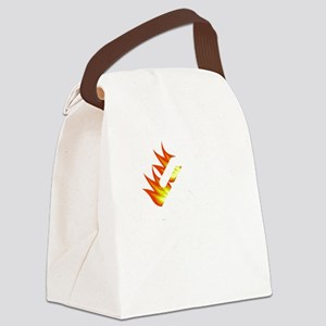 I Tried It At Home White Canvas Lunch Bag