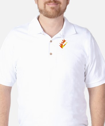 I Tried It At Home White Golf Shirt