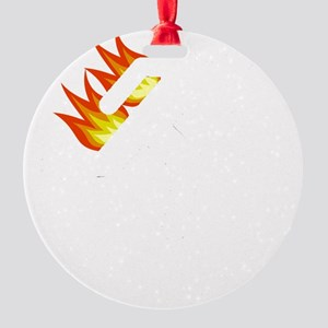 I Tried It At Home White Round Ornament