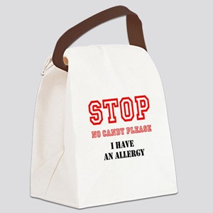 Allergy Warning Canvas Lunch Bag