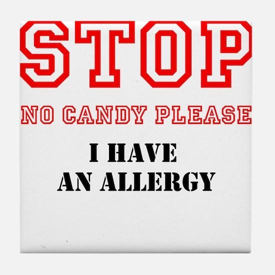 Allergy Warning Tile Coaster
