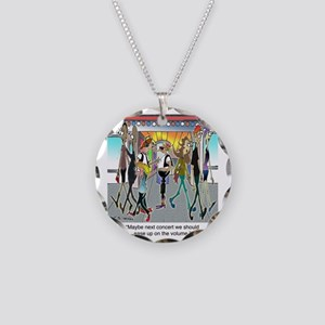 7842_concert_cartoon Necklace Circle Charm