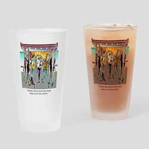 7842_concert_cartoon Drinking Glass