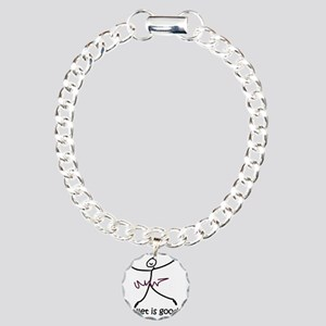 ballet is good large bla Charm Bracelet, One Charm