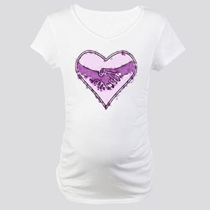 Watercolor Heart Maternity T-Shirt