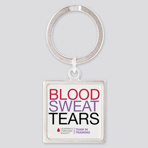 blood.sweat_purp Square Keychain