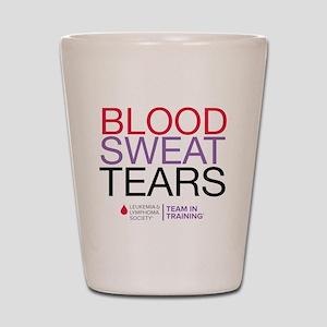 blood.sweat_purp Shot Glass