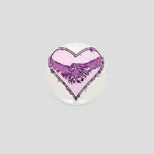 Watercolor Heart Mini Button