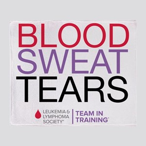 blood.sweat_purp Throw Blanket