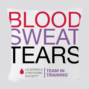 blood.sweat_purp Woven Throw Pillow