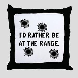 Gun Range Throw Pillow