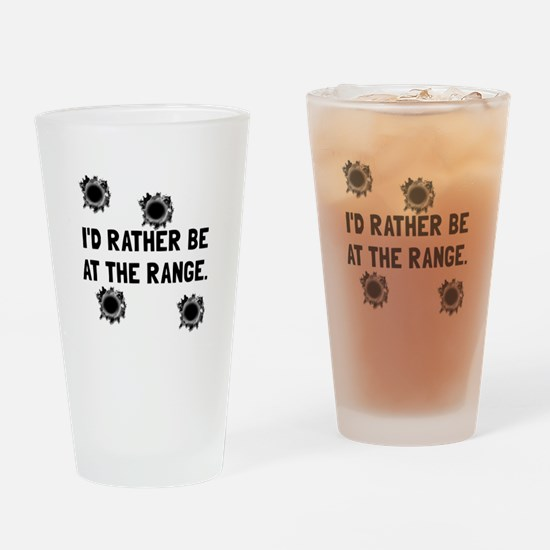 Gun Range Drinking Glass
