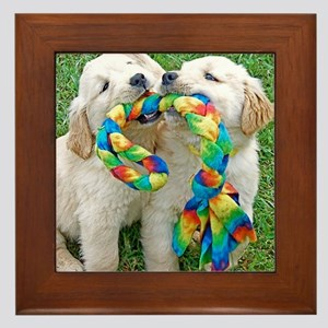 Golden Retriever Puppy Gift iPad Hard  Framed Tile