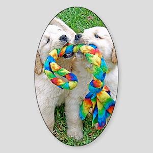 Golden Retriever Puppy Gift iPad Ha Sticker (Oval)