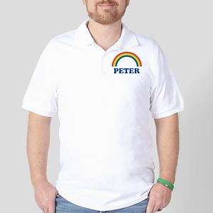 PETER (rainbow) Golf Shirt