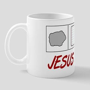 Rock Paper Scissors Jesus Mug