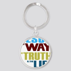 Jesus The Way The Truth & The L Round Keychain