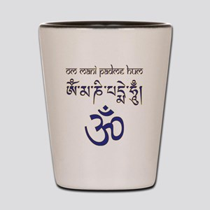 Om Mantra n1 Shot Glass