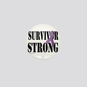 survivor strongpurple Mini Button