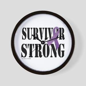survivor strongpurple Wall Clock