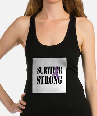 survivor strongpurple Racerback Tank Top