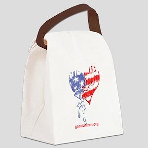 Heart tee shirt Canvas Lunch Bag