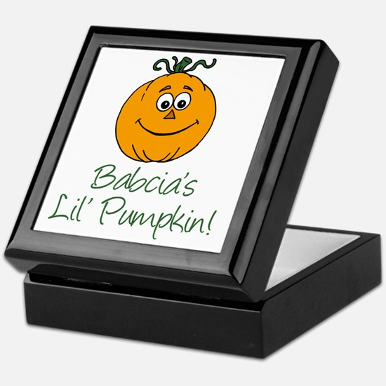 Babcias Little Pumpkin Keepsake Box