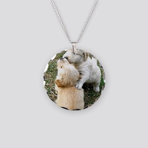 Golden Retriever Puppy Gift  Necklace Circle Charm