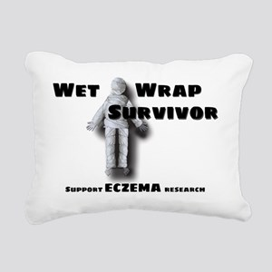 wet-wrap-black Rectangular Canvas Pillow