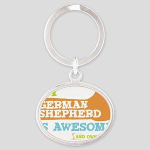 Germ-Shep-Thumbs-UP Oval Keychain