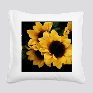Yellow_Sunflowers Square Canvas Pillow