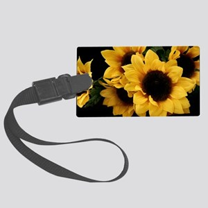 Yellow_Sunflowers Large Luggage Tag