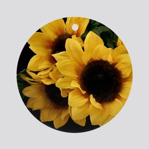 Yellow_Sunflowers Round Ornament