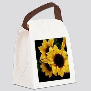 Yellow_Sunflowers Canvas Lunch Bag