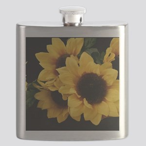 Yellow_Sunflowers Flask