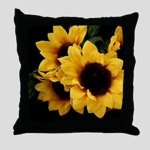 Yellow_Sunflowers Throw Pillow