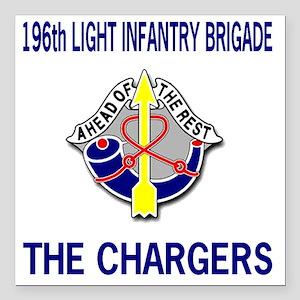 "196th LIGHT INFANTRY BRI Square Car Magnet 3"" x 3"""